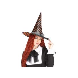 Vintage Witch Hat - Orange Dots