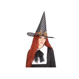 Vintage Witch Hat - White Dots