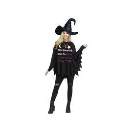 Broomstick Runs On Coffee Witch Poncho