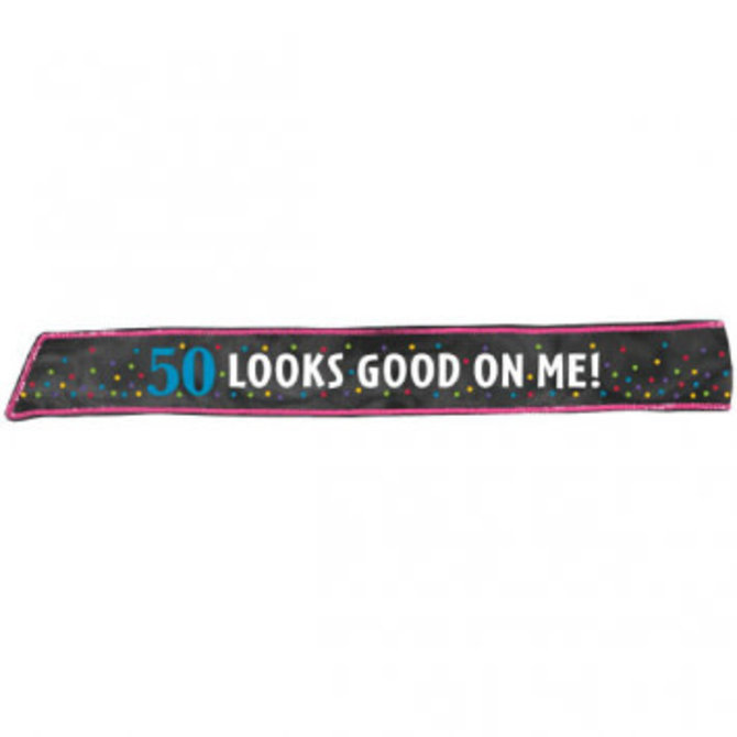 50th Birthday Fabric Sash