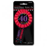 40th Birthday Award Ribbon