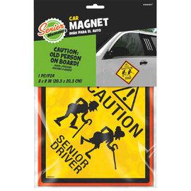 Senior Driver Car Magnet