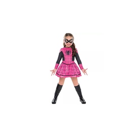 Girls Pink Spider-Girl Costume - Toddler 3-4