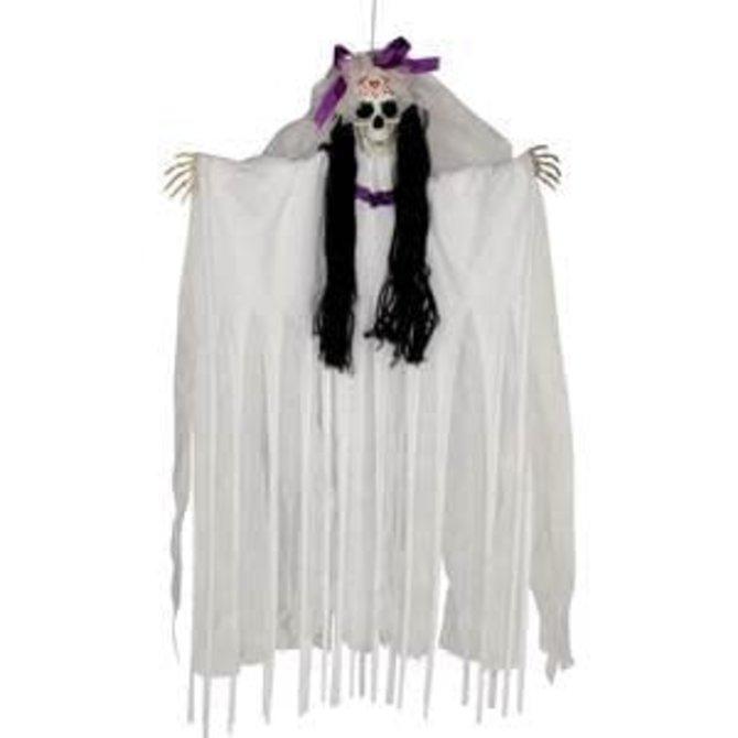 """36"""" Hanging Sugar Skull Bride"""