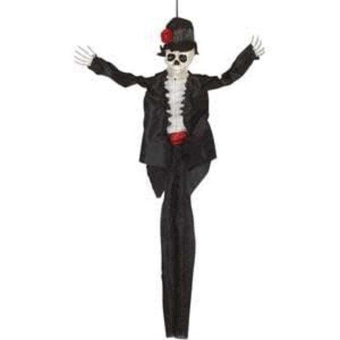 """36"""" Hanging Sugar Skull Groom"""