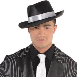 Satin Gangster Hat -Black