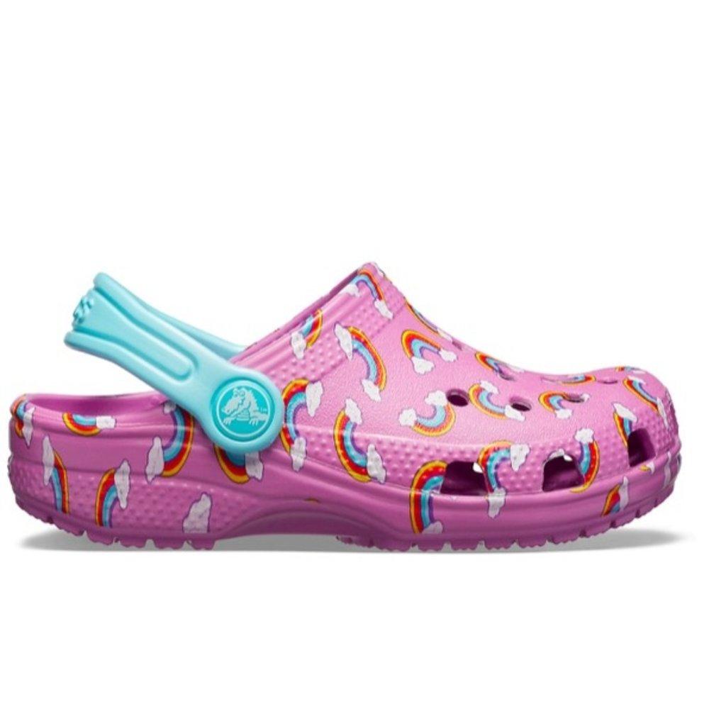 Crocs Crocs Kids Classic Graphic Rainbows Violet