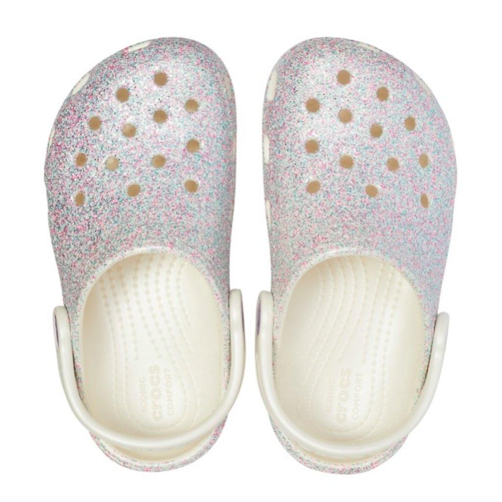 Crocs Crocs Kids Classic Glitter Oyster