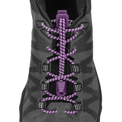 Nathan Nathan Reflective Run Laces Purple Magic