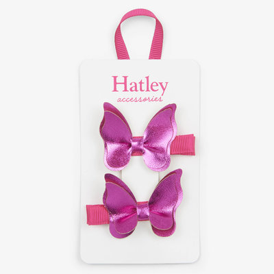 Hatley Hatley Fuchsia Bowterflies Hair Clips