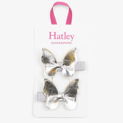 Hatley Hatley Silver Glimmer Bowterflies Hair Clips