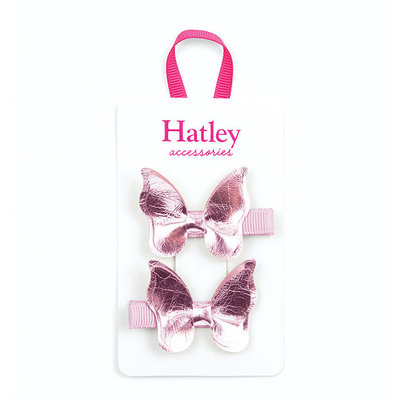 Hatley Hatley Pink Shimmer Bowterflies Hair Clips