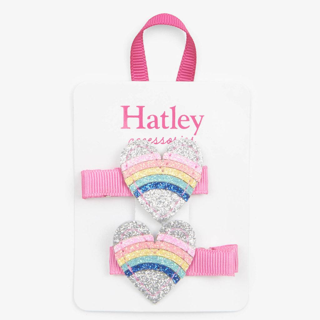 Hatley Hatley Rainbow Hearts Glitter Hair Clips