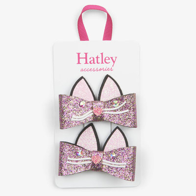 Hatley Hatley Glitter Kitties Hair Clips