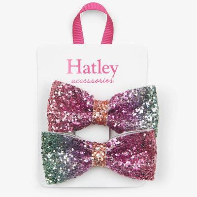Hatley Hatley Prismatic Bows Glitter Hair Clips