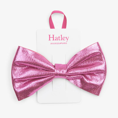 Hatley Hatley Fuchsia Sparkle Bow Hair Clip