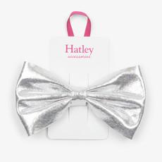 Hatley Hatley Silver Shimmer Bow Hair Clip