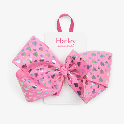 Hatley Hatley Hologram Hearts Bow Hair Clip