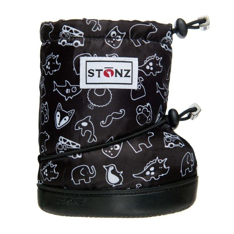 Stonz Stonz Toddler Booties Stonz Print Black