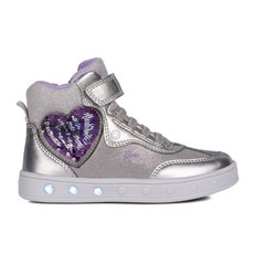 Geox Geox J Skylin Dk Silver/Violet