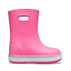 Crocs Crocs Kids Crocband Rain Boot Pink Lemonade/Lavender