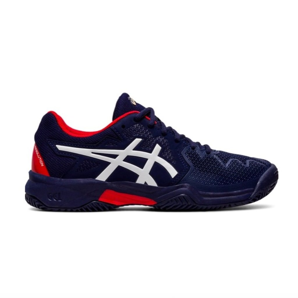Asics Asics Gel Resolution 8 GS Peacoat/Classic Red Youth 6.5