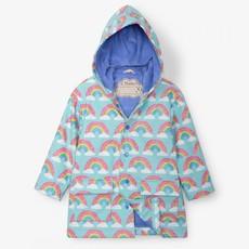 Hatley Hatley Raincoat Magical Rainbows Aqua