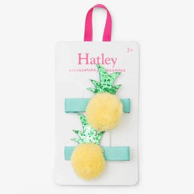 Hatley Hatley Pom Pom Pineapples Glitter Hair Clips