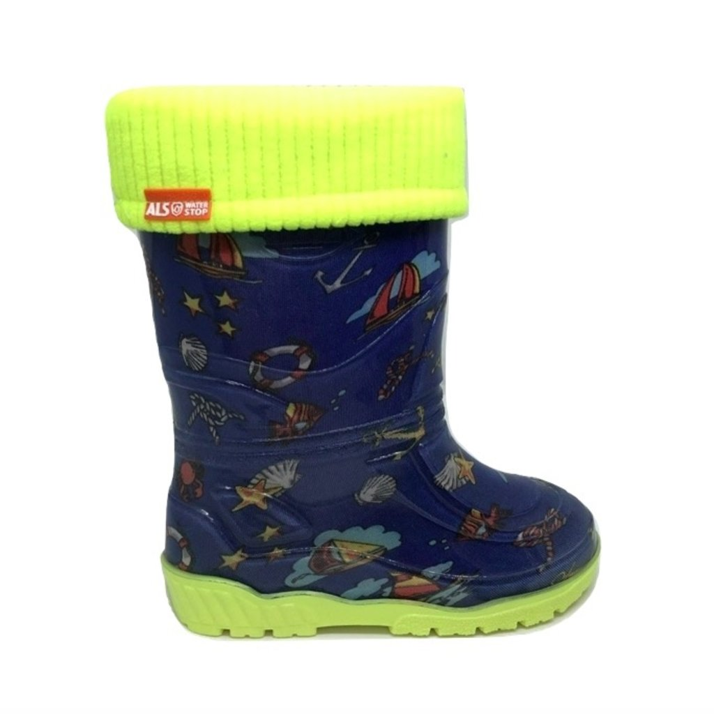 Alisa Alisa Lined Rainboot Blue Ships