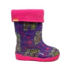 Alisa Alisa Lined Rainboot Pink Hippos