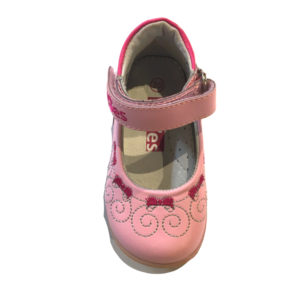 Fitoes Mary Jane Pink/Silver