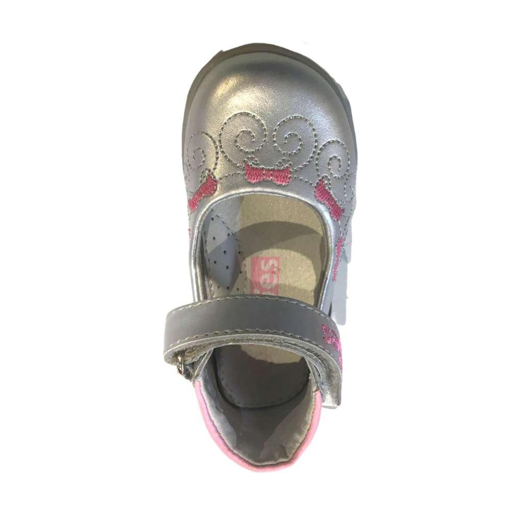 Fitoes Mary Jane Silver/Pink
