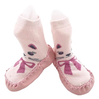 Tickle Toes Tickle Toes Slipper Socks Pink Cat