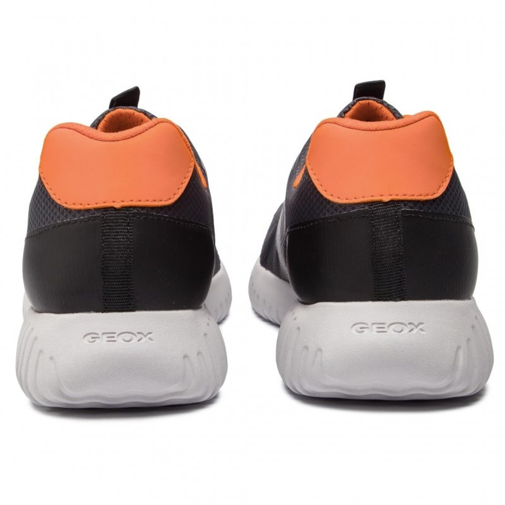 Geox Geox J Waviness Black/Orange Lace