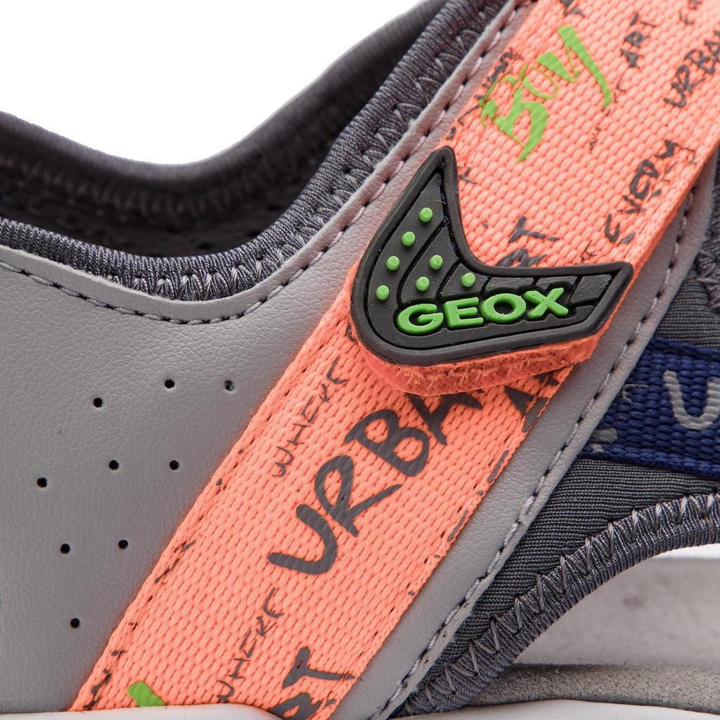 Geox Geox J Borealis (O/T) Grey/Fluo Orange