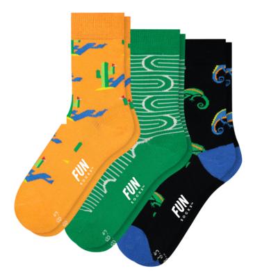 Fun Socks Fun Socks 3PK Desert Crew