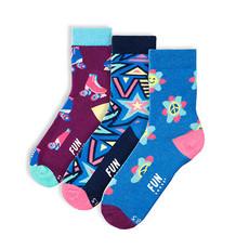 Fun Socks Fun Socks 3PK Peace Crew