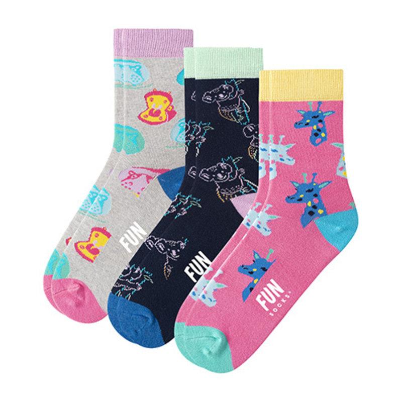 Fun Socks Fun Socks 3PK Zoo Crew
