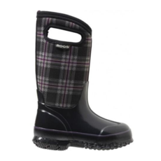 Bogs Bogs Classic Black Winterplaid Youth 7