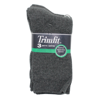 Trimfit Trimfit Ribbed Dress Sock (3 Pk) Dk Grey