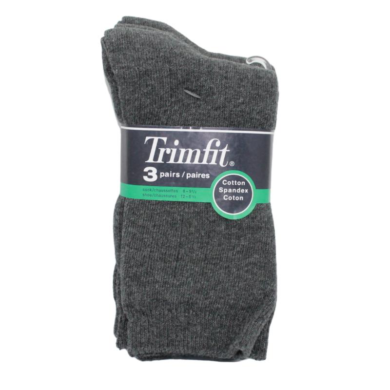 Trimfit Trimfit Ribbed Dress Sock (3 Pk) Dk Grey