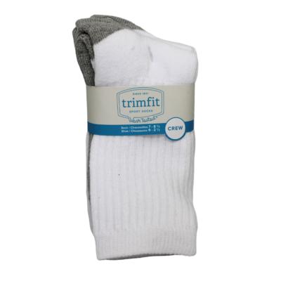 Trimfit Trimfit Crew Sport Sock (3 Pk) White