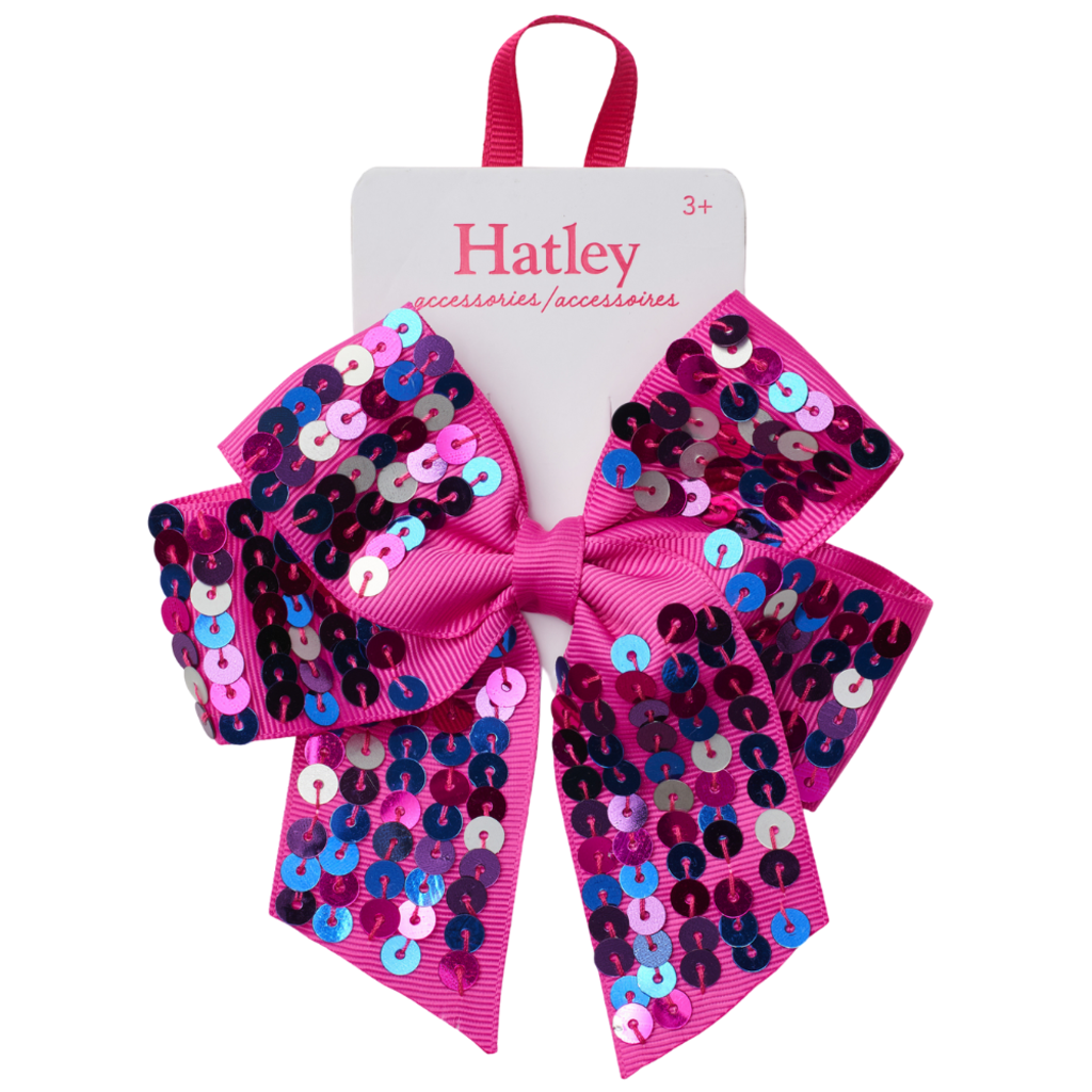 Hatley Hatley Pretty Sequined Bow Large Hair Clip