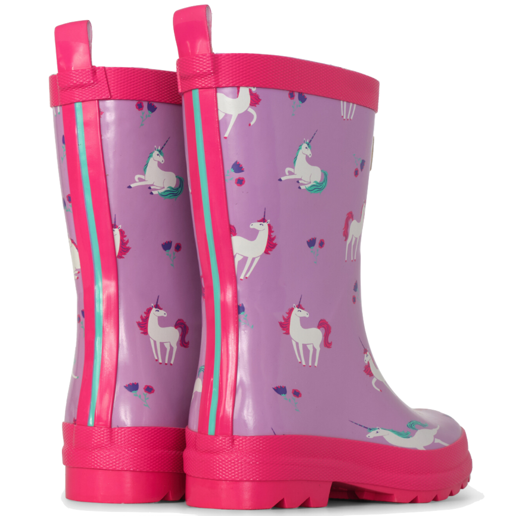 Hatley Hatley Playful Unicorns Shiny Rain Boots