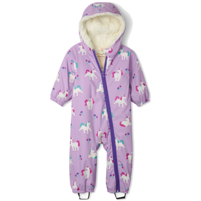 Hatley Hatley Playful Unicorns Colour Changing Baby Bundler