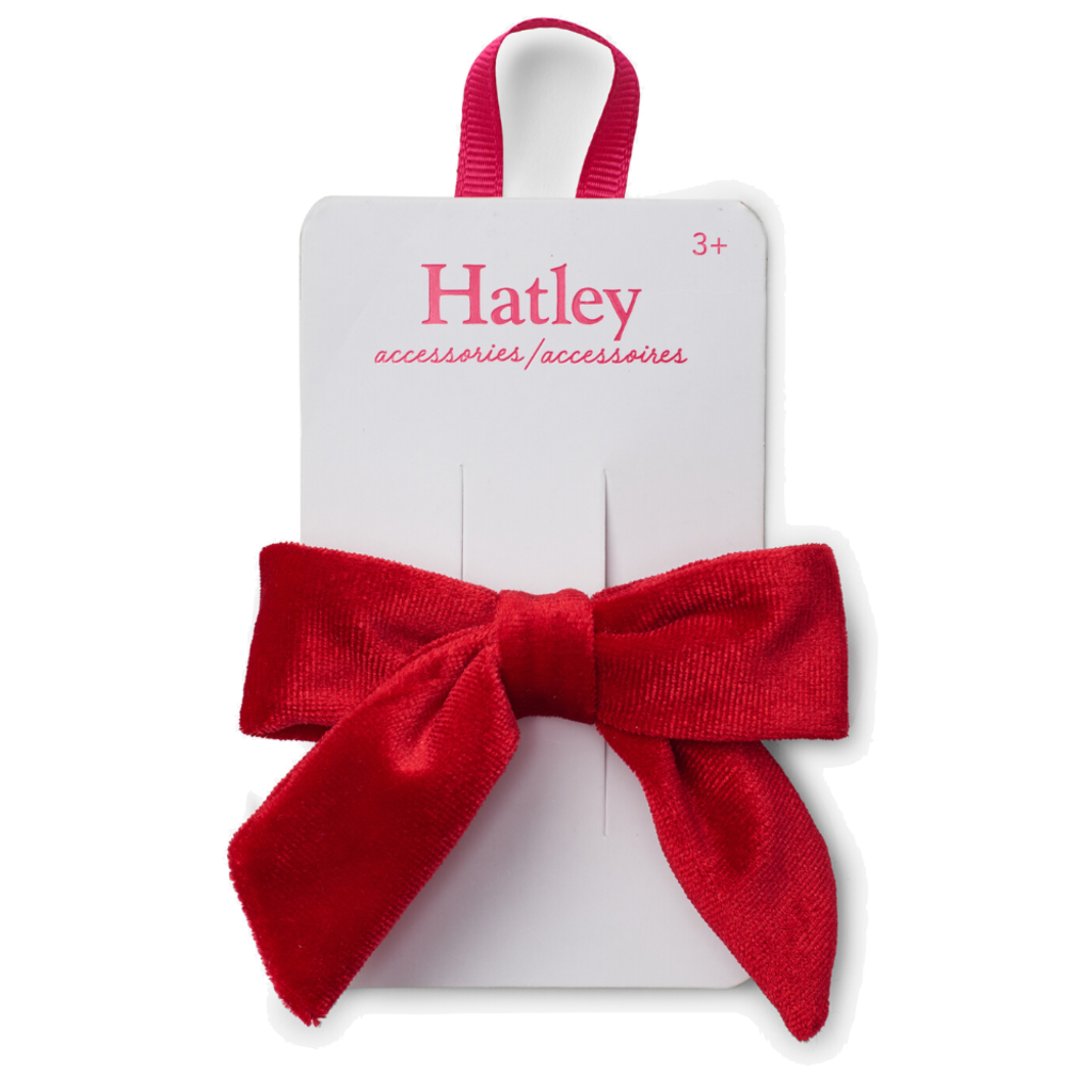 Hatley Hatley Red Velvet Bow Hair Clip