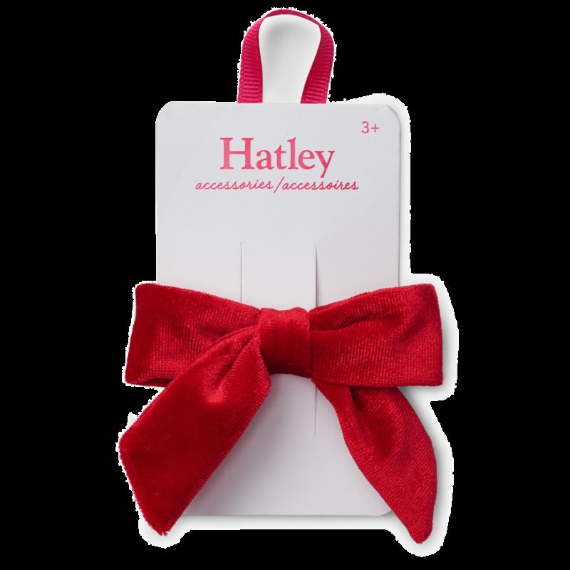 Hatley Hatley Red Velvet Bow Hair Clip