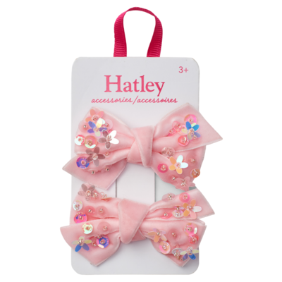 Hatley Hatley Sequined Bow Hair Clips