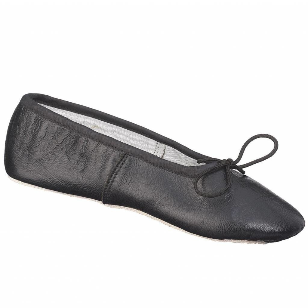 Johnny Brown Johnny Brown Leather Ballet Slipper Black