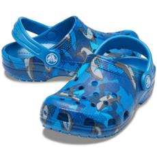Crocs Crocs Kids Classic Shark Clog Prep Blue